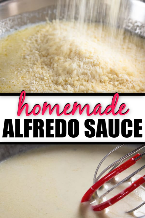 Freshly Grated Parmesan cheese, whisked Alfredo sauce