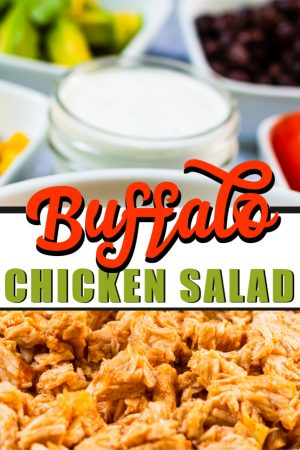 Loaded Buffalo Chicken Salad Bowl perfect for Lunch