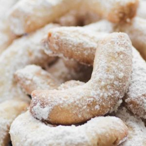 Almond Crescent Cookies (German Vanillekipferl)