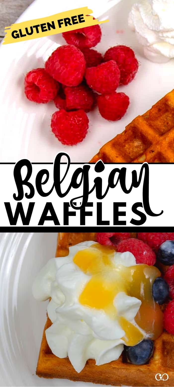The BEST gluten-free Belgian Waffle Recipe