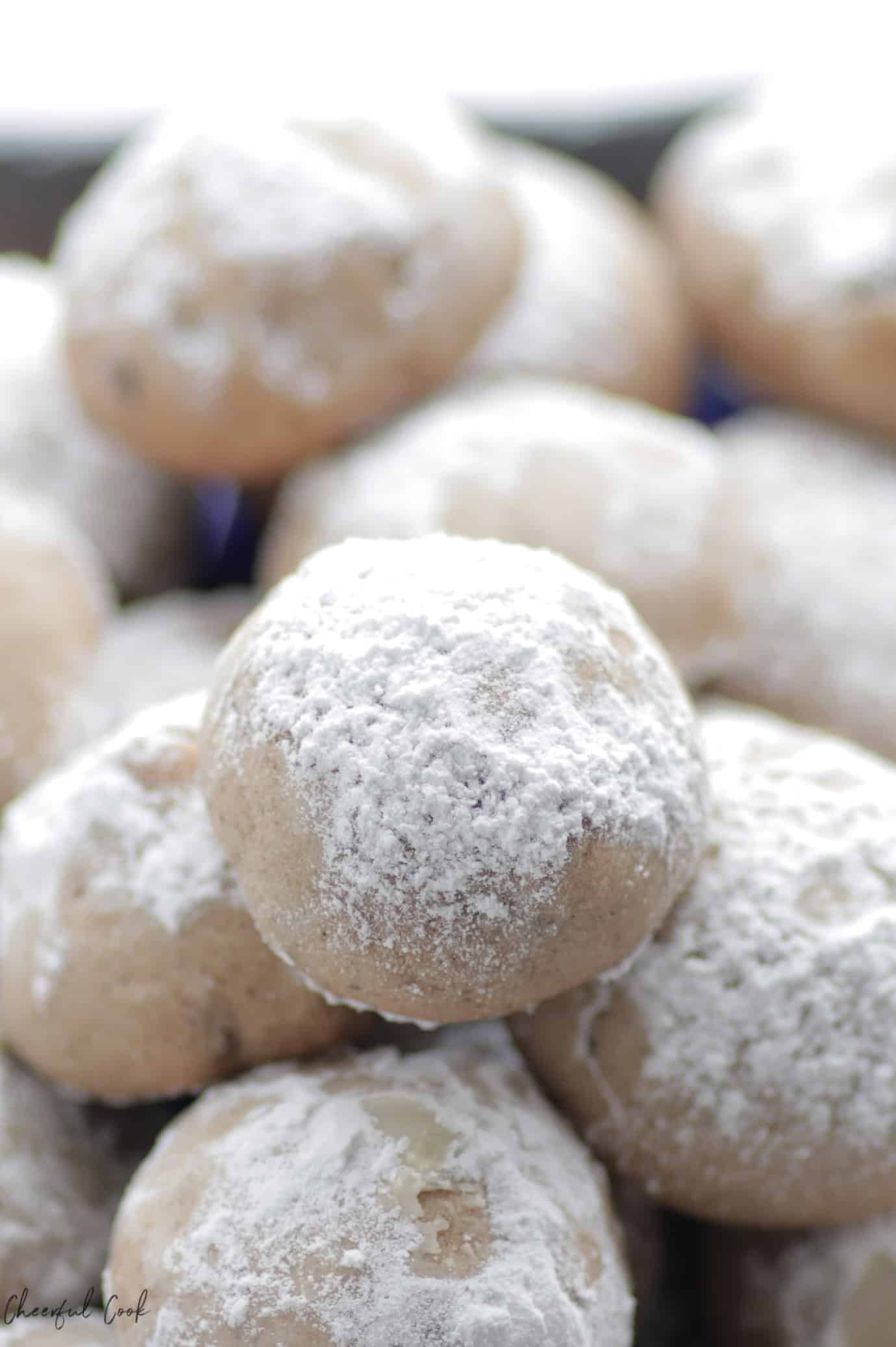 Chai Spiced Cookies dusted with powdered sugar