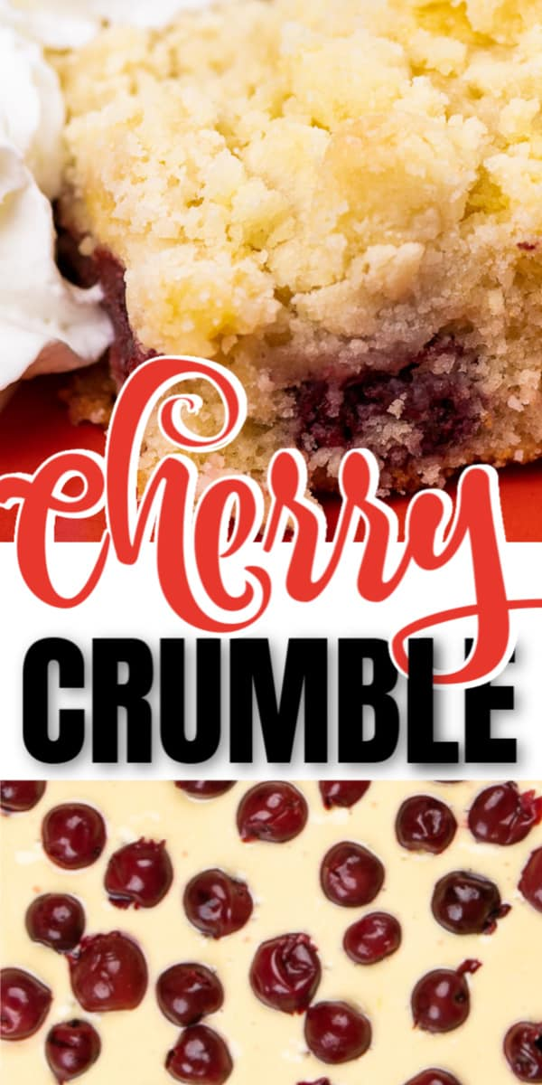 Easy homemade German Cherry Crumble recipe