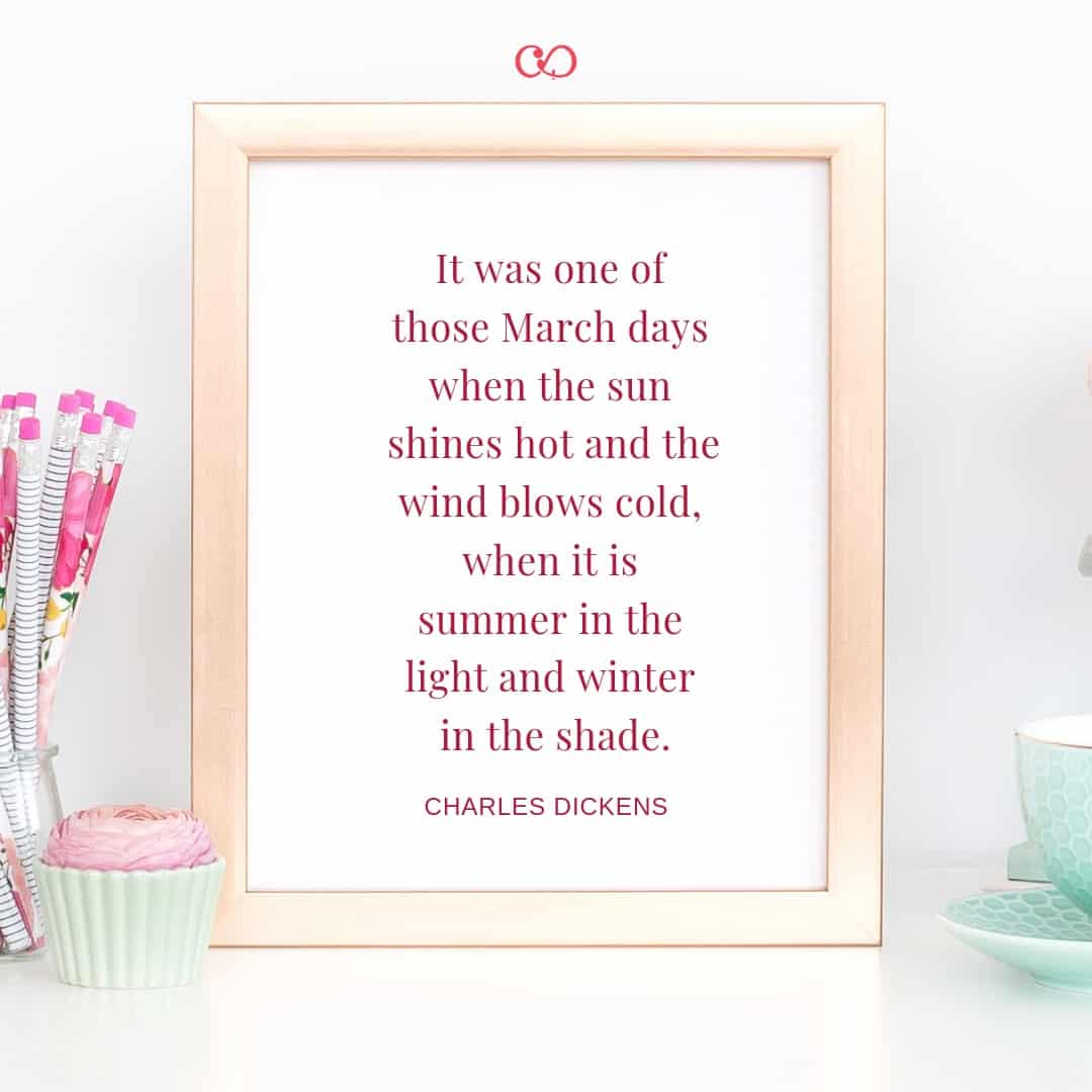 Charles Dickens - It was one of those March days