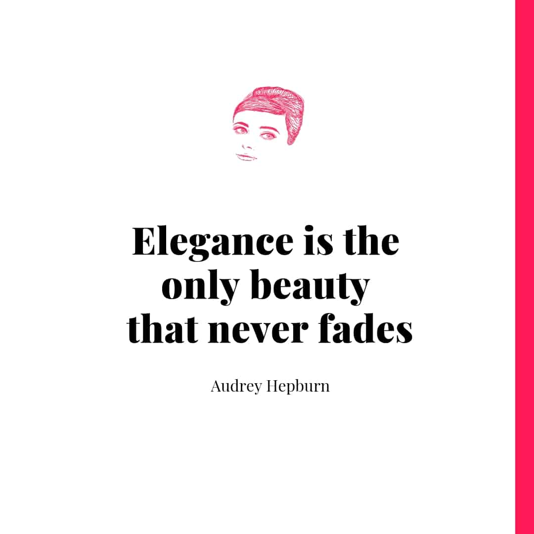 Quote - Audrey Hepburn was one of the most iconic figures in the 20th century. Check out a collection of her classic quotes. #confidence #hepburnquotes #quotes #love #classy #inspirational #life #happy #wisdom cheerfulcook.com