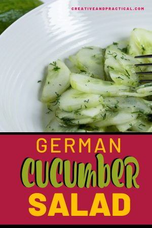 A bowl of German Cucumber Salad