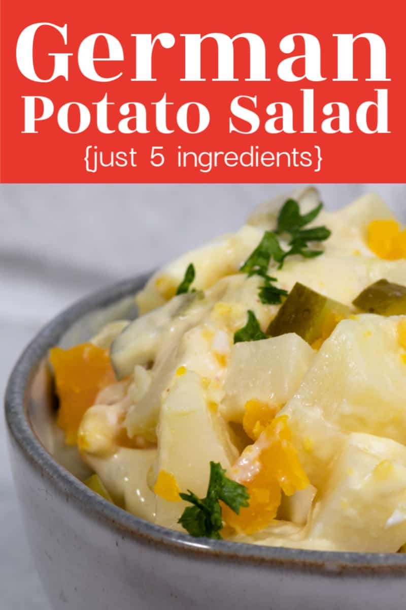 Irresistible 5 ingredient German potato salad