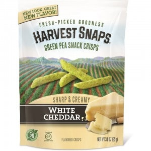 Harvest Snaps White Cheddar Pea Crisps - Gluten Free and Delicious
