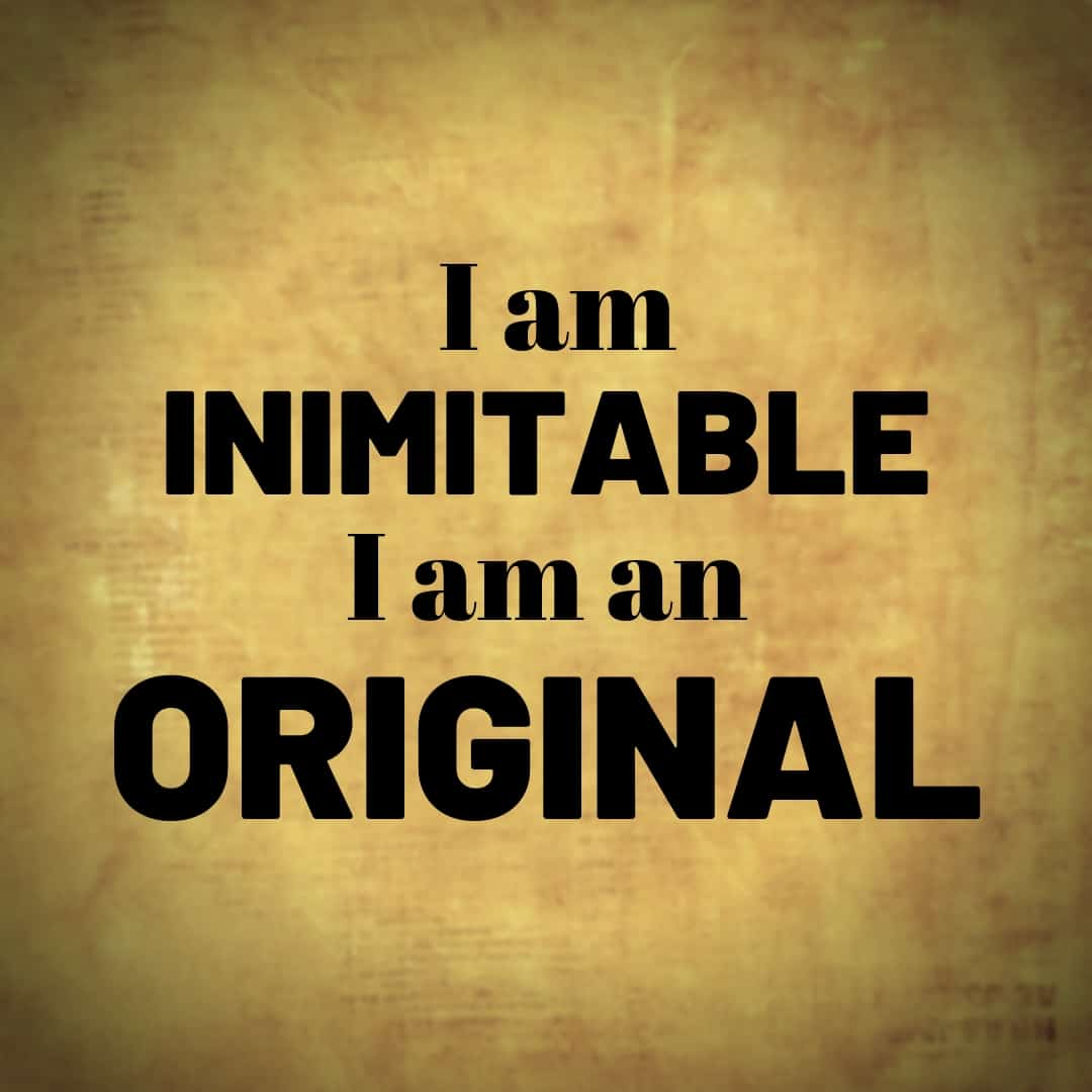 I am Inimitable I Am An Original - Hamilton, the Musical