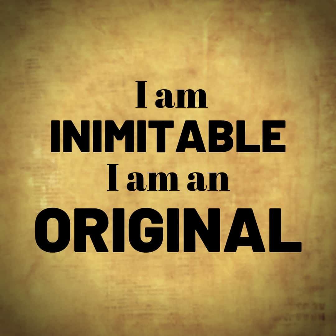 I am Inimitable I Am An Original - Hamilton, the Musical