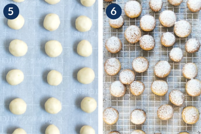 Step 5 - Line a baking sheet with the key lime cookies - Step 6 - Move the baked cookies onto a cooling rack