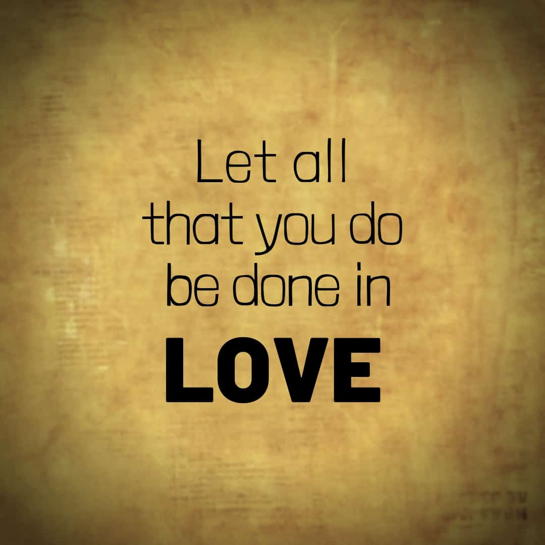 Let All That You Do Be Done In Love, Hamilton The Musical