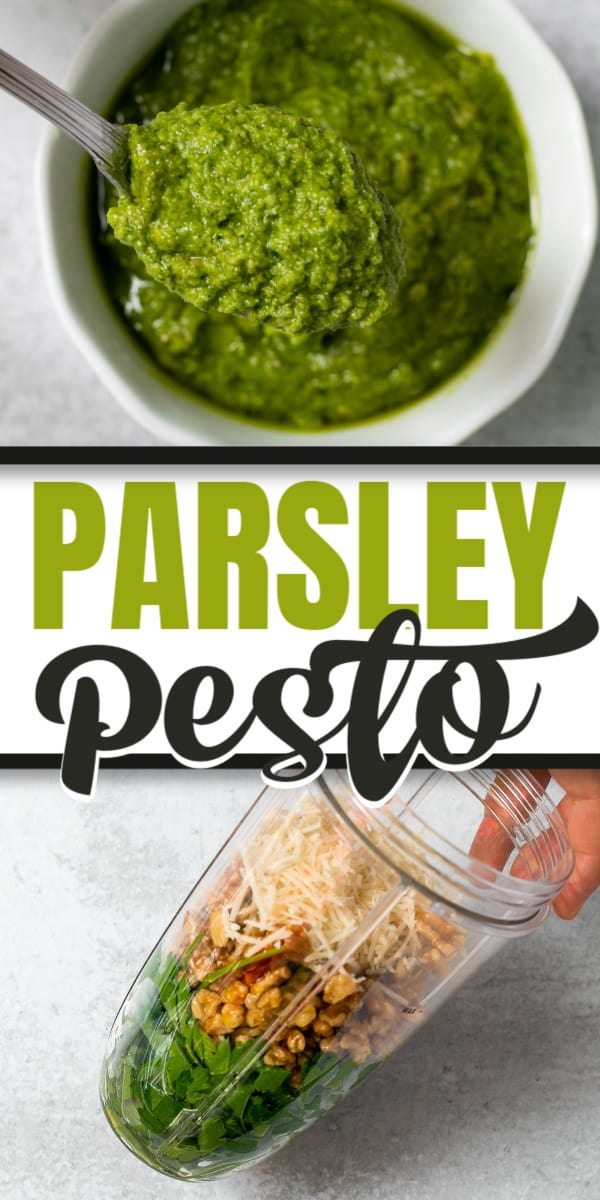 Parsley Pesto and how it's made.