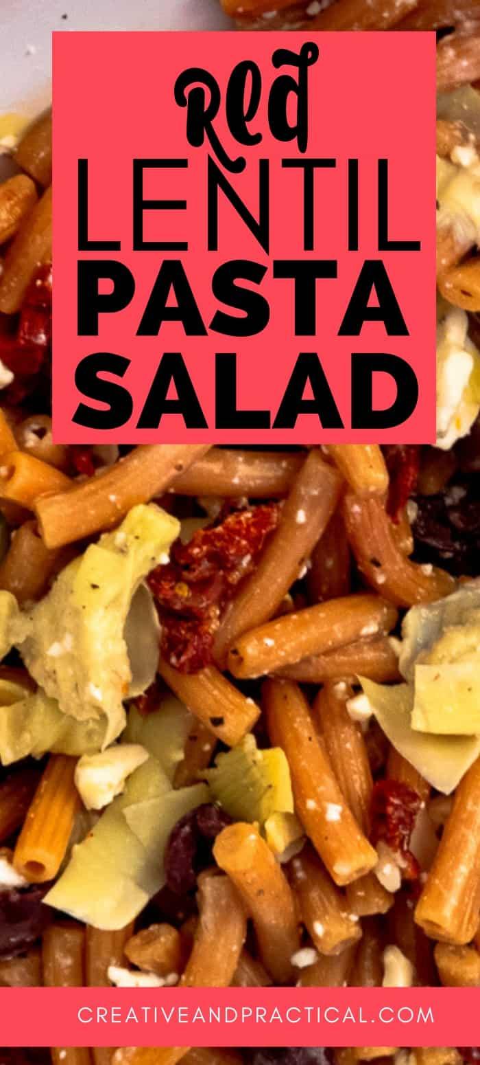 Red Lentil Pasta Salad (Gluten Free)