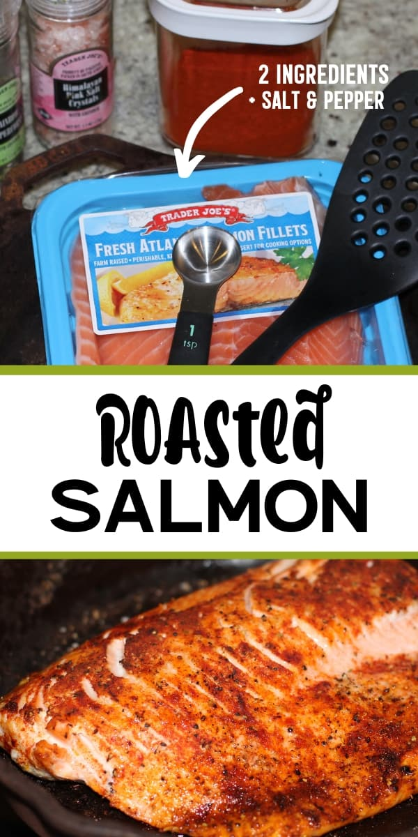 Ingredients to make roasted salmon