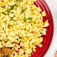 A plate of traditional Spaetzle
