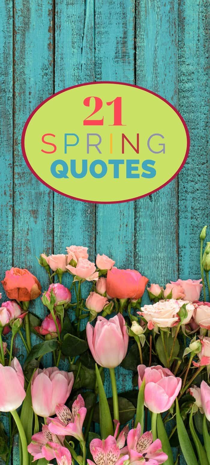 21 Amazing Spring Quotes