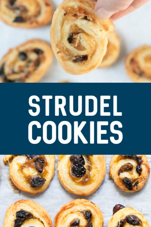 Strudel Cookies from from the oven