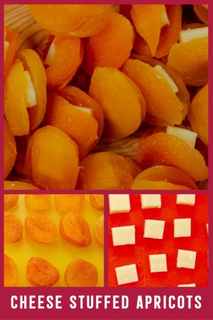 Cheese Stuffed Dried Apricots Cold Party Appetizer