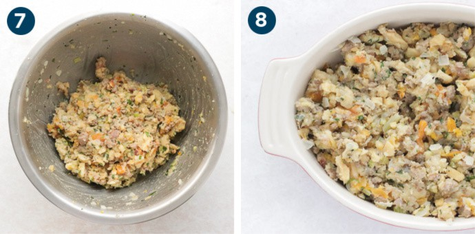 How To Make Stuffing: Step 7 and 8