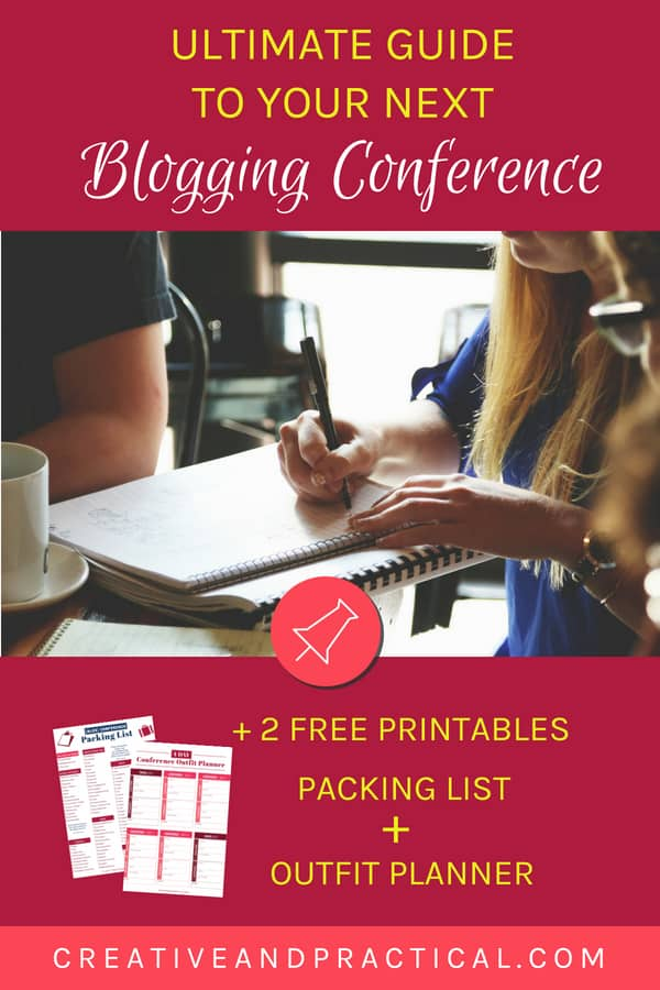 Discover what it takes to prepare for your a blogging conference. Learn what to throw into your bag and get tips about networking (especially for introverts), and much more. Bonus: 2 free printables: Blogging Conference Packing List + Outfit Planner