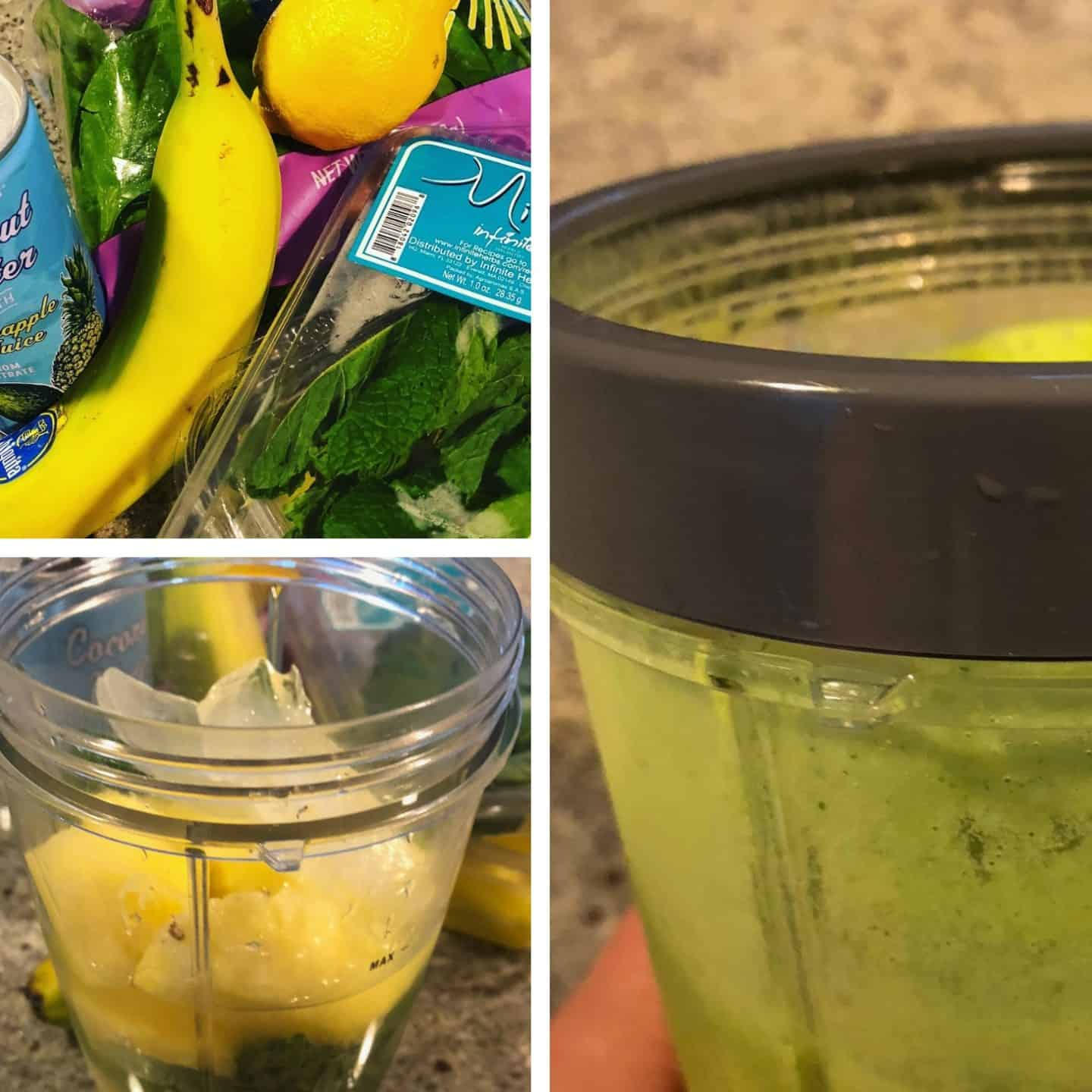 Step-by-step instructions to make a quick and simple summer smoothie
