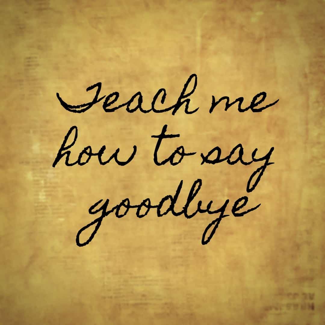 Teach Me How To Say Goodbye, Hamilton The Musical