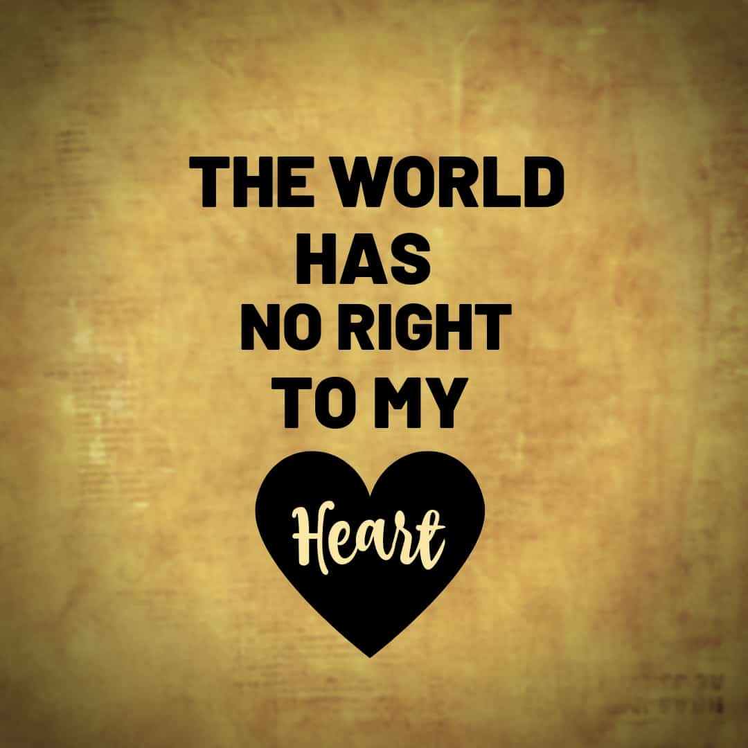 The World Has No Right TO My Heart, Hamilton The Musical