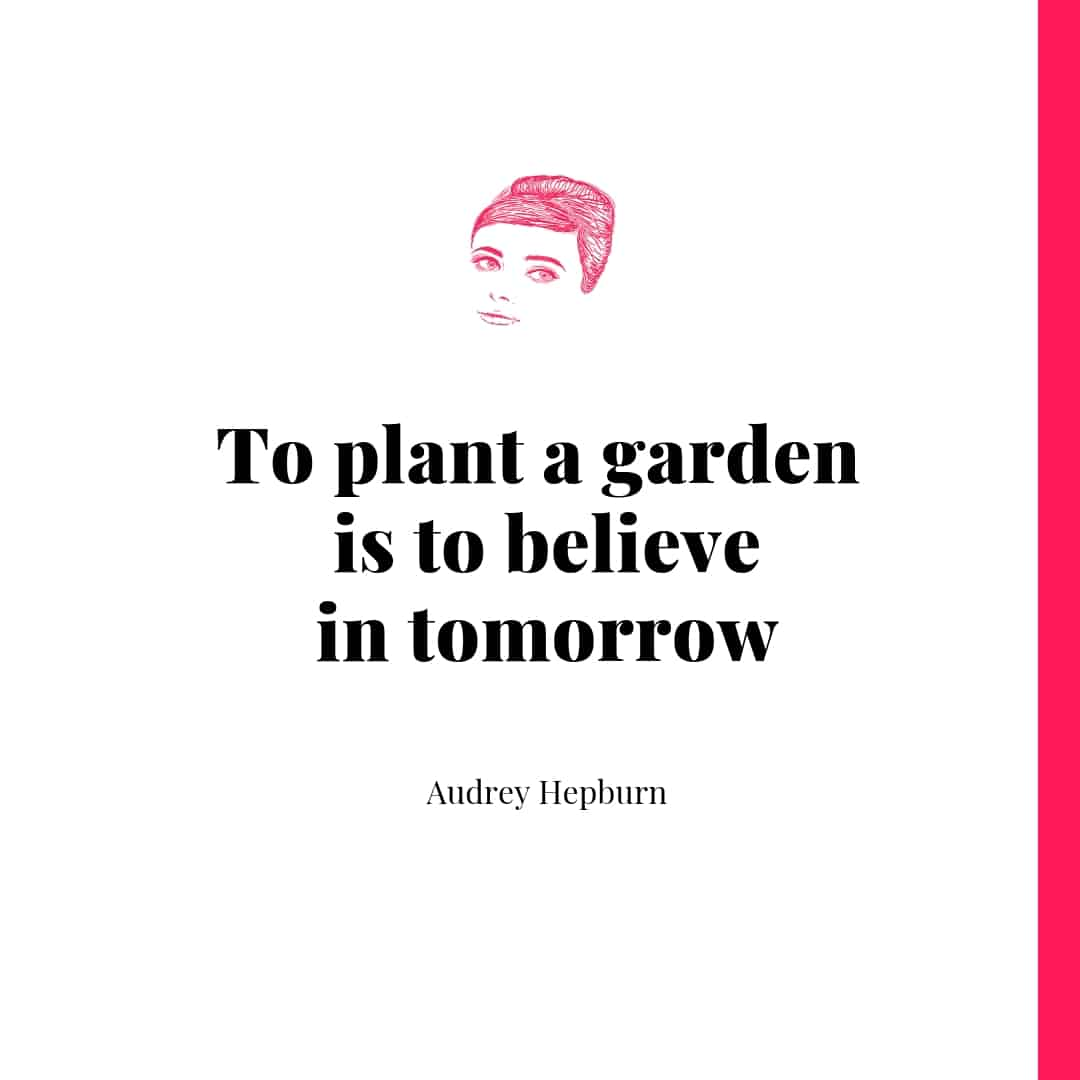 Quote - To plant a garden is to believe in tomorrow