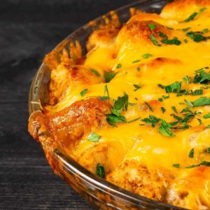 Tater Tot Casserole with Turkey Meatballs