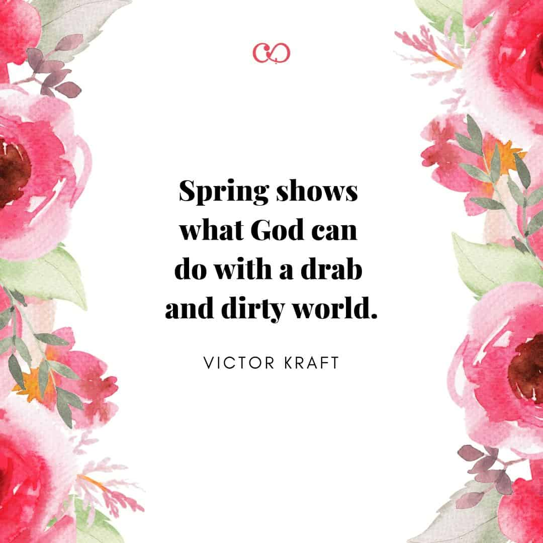 Quote by Victor Kraft - Spring shows what God can do with a drab and dirty world.