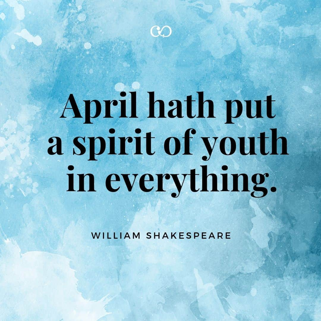 Quote by William Shakespeare - April hath put a spirit of youth in everything.