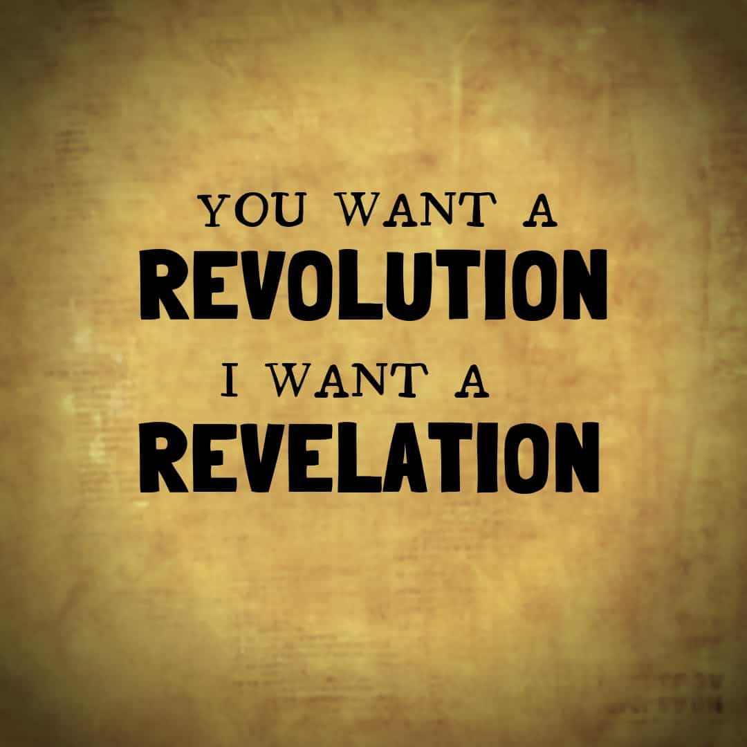 You Want A Revolution, I Want A Revelation, Hamilton The Musical