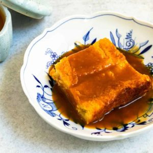 Custard Bread Pudding with Caramel Sauce