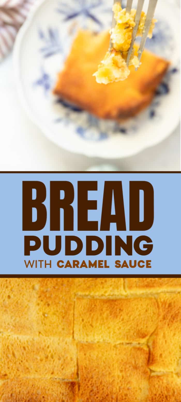 A slice of fresh baked bread pudding
