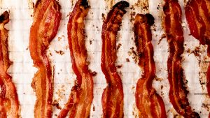 Strips of crispy bacon perfect fo