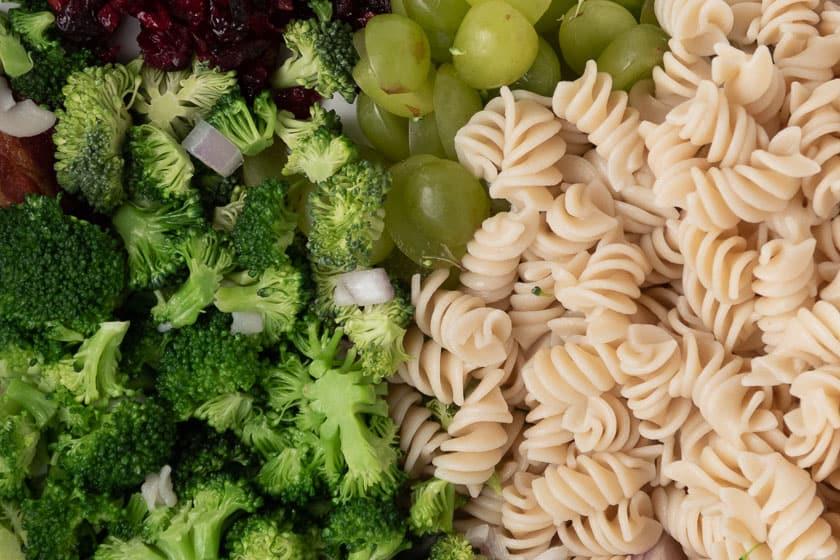 Pasta, Broccoli, and Grapes