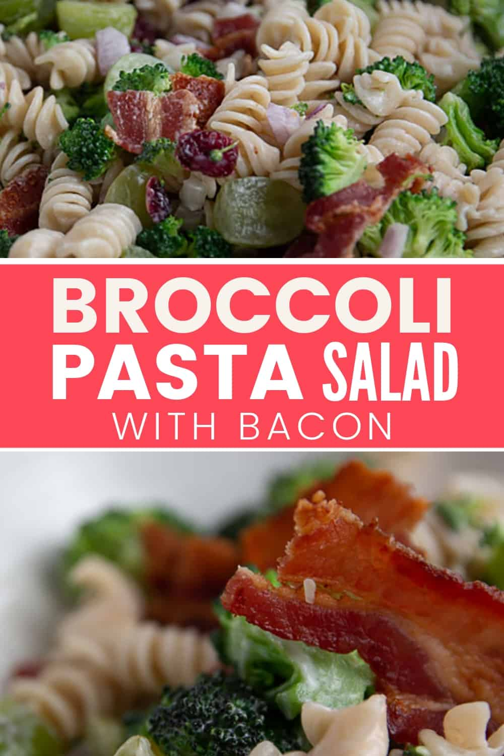 A bowl of Broccoli Pasta Salad