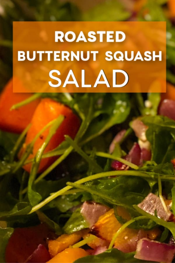 A bowl of Roasted Butternut Squash Salad