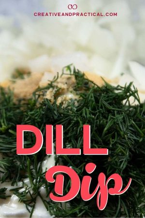 Preparing the dill dip with cucumber.