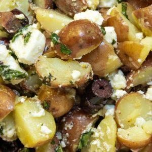 Greek Style Red Potato Salad