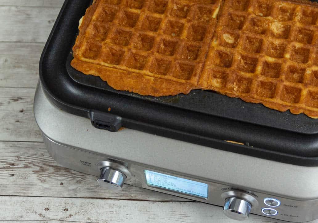 Perfectly crisped gluten free waffles