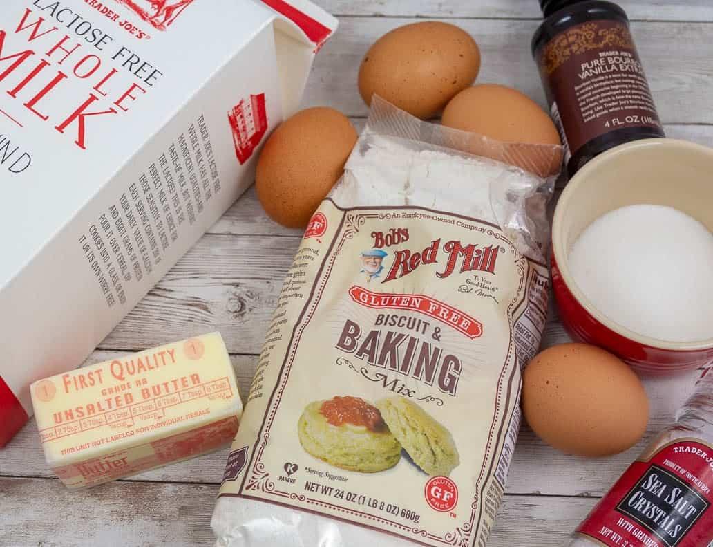 Ingredients needed to make gluten free waffles