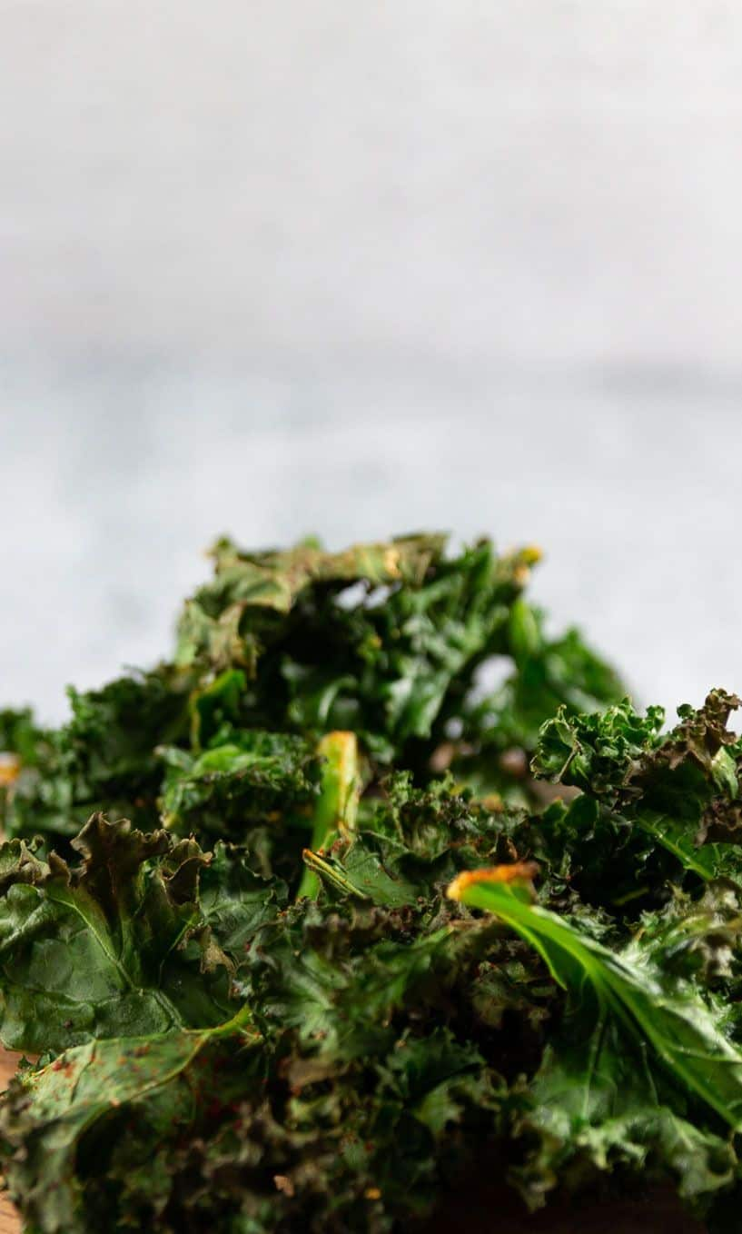 Roasted Kale Chips with a subtle smokey flavor.
