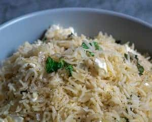 Mint and Feta Cheese Rice