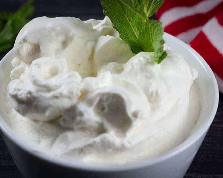 Fresh Mint Whipped Cream