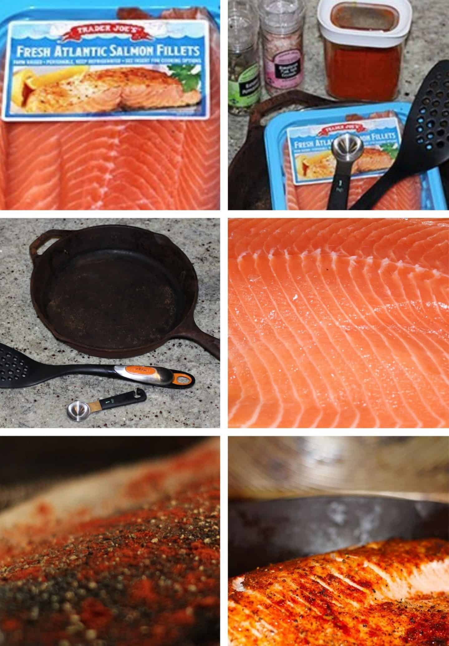 ingredients and step-by-step instructions how to make broiled salmon