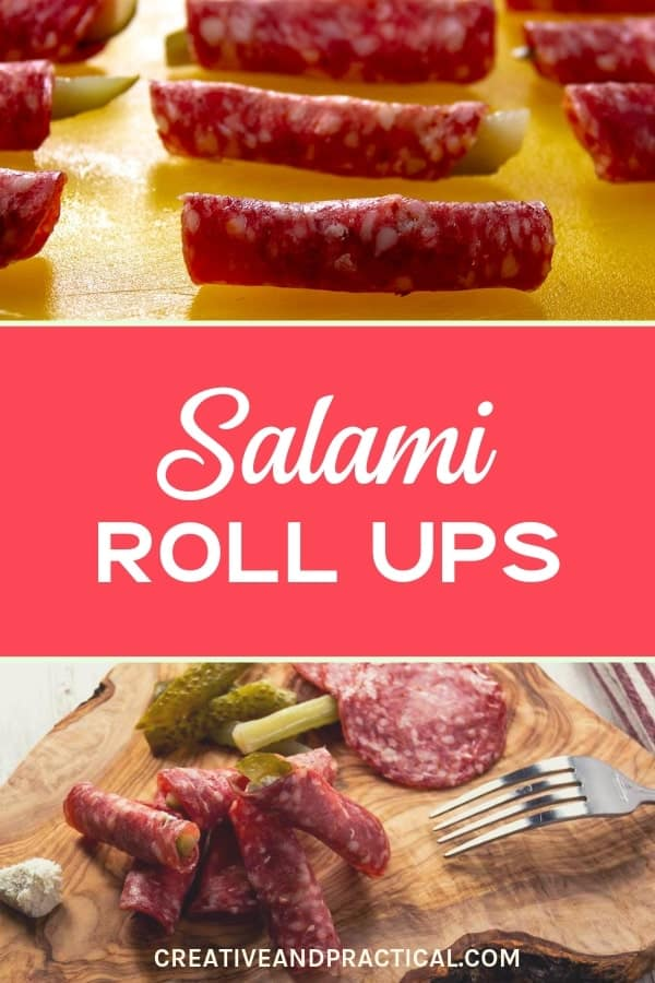 Salami Roll Ups Party Appetizer