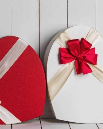 Two heart gift boxes perfect for a unique valentine's day gift for him
