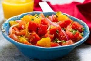 Watermelon, Orange, and Mint Salad