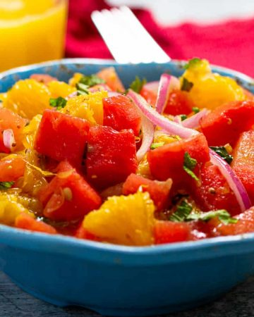 Watermelon, Orange, and Mint Salad